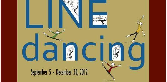 Line Dancing, exhibit, comics, cartoons