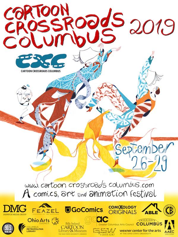 CXC 2019 poster, comics, cartoons, festivals, workshops